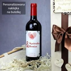 personalizowana etykieta na wino