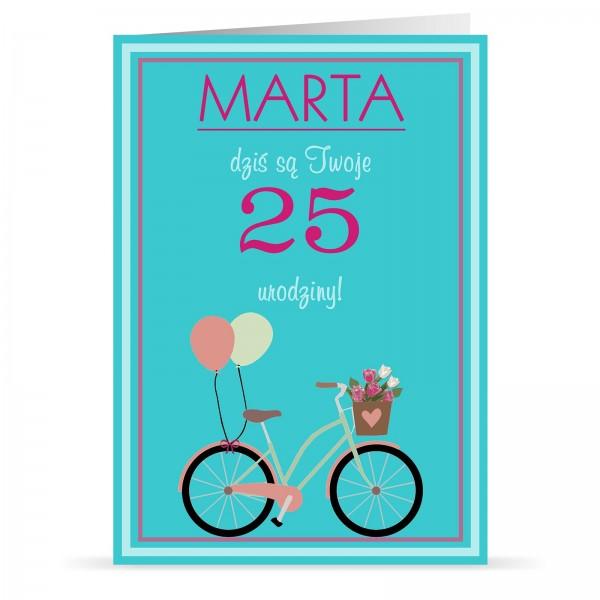 spersonalizowana kartka na 25 urodziny ze zdjęciem