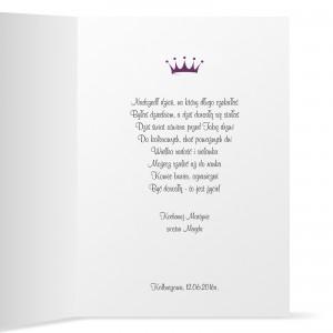 życzenia wewnątrz kartki urodzinowej na osiemnastkę dla niej