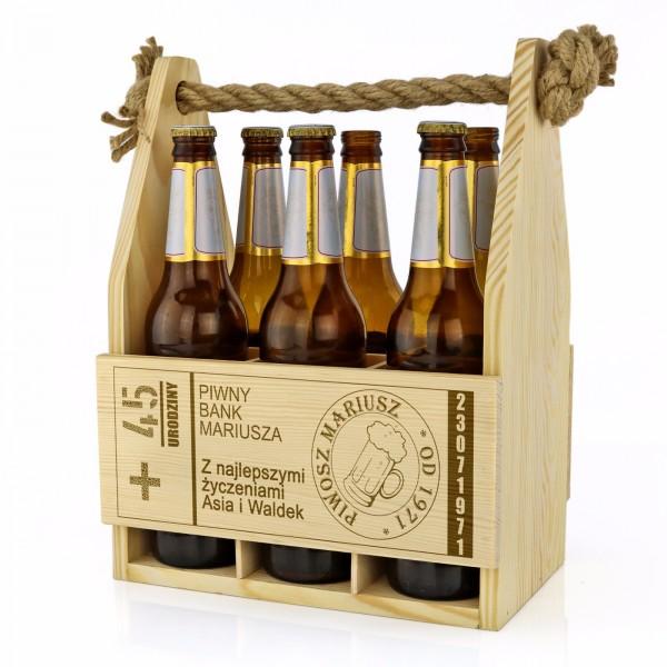 skrzynka na piwo z grawerem na prezent dla kolegi