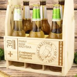 prezent na urodziny dla chłopaka drewniana skrzynka na piwo z imieniem
