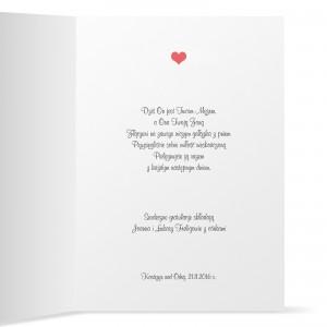 życzenia wewnątrz kartki z okazji ślubu