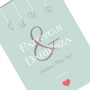 kartka z okazji ślubu z kolorowym nadrukiem personalizacji