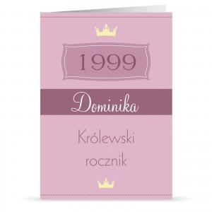 spersonalizowana kartka urodzinowa na prezent dla niej