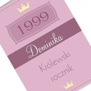 kartka urodzinowa z kolorowym nadrukiem personalizacji na urodziny dla niej