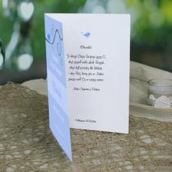 kartka na chrzest z życzeniami