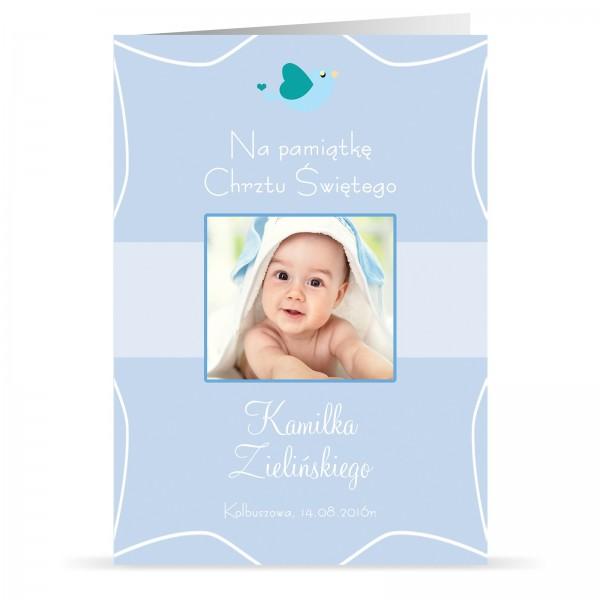 personalizowana kartka ze zdjęciem z okazji chrztu