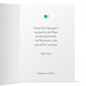kartka na chrzest z życzeniami dla chłopczyka
