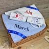 zestaw ręczników w koszu na prezent