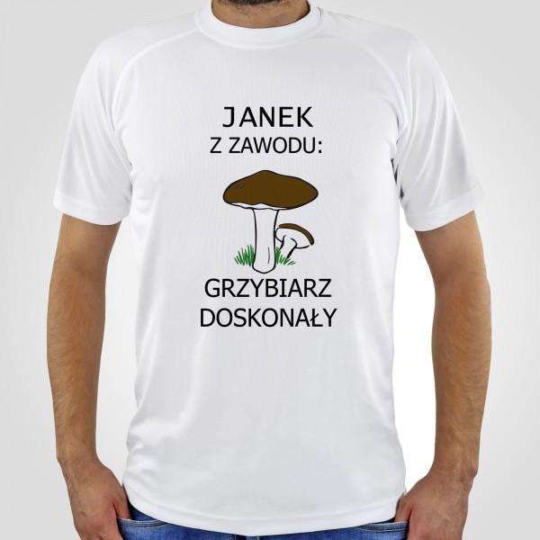 koszulka z nadrukiem dla grzybiarza