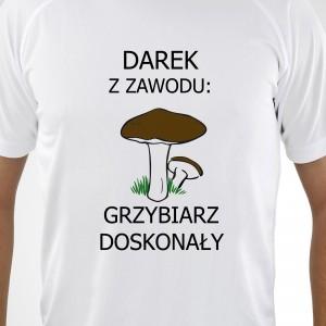 koszulka z własnym nadrukiem na prezent dla grzybiarza