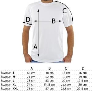 tabela rozmiarów koszulek męskich z personalizacją