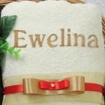 personalizowany ręcznik na prezent dla żony