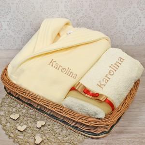zestaw prezentowy szlafrok z ręcznikiem