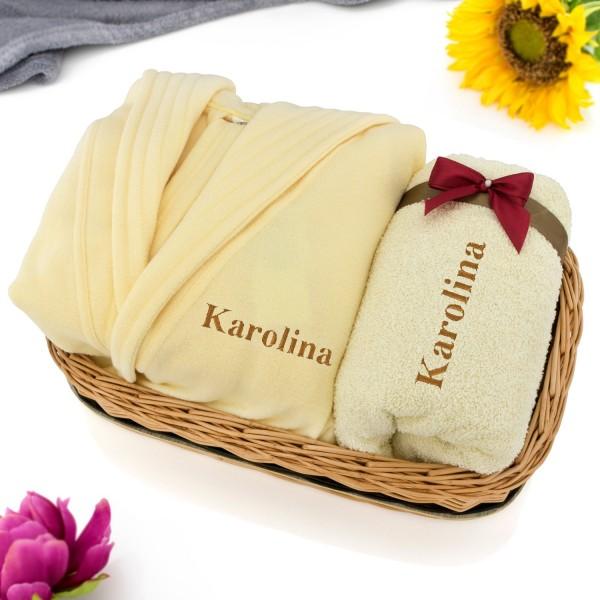 szlafrok i ręcznik na prezent