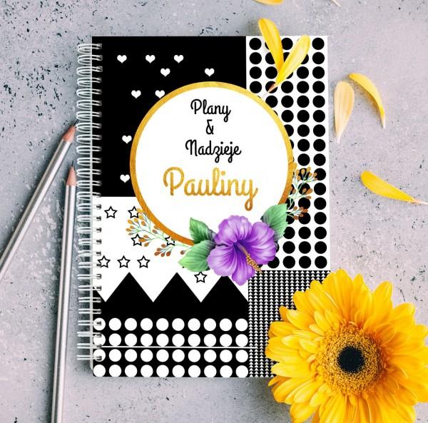 notatnik personalizowany na wyjątkowy prezent plany & nadzieje
