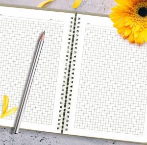 personalizowany notatnik na oryginalny prezent dla dziewczyny plany & nadzieje