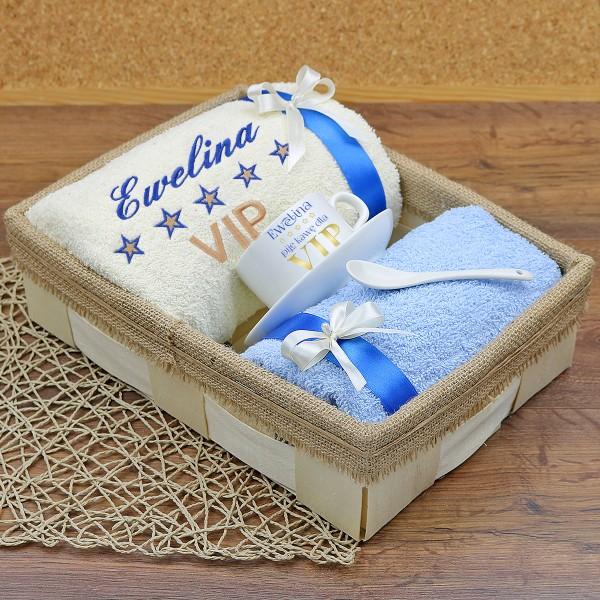 prezentowy zestaw ręczników z haftem