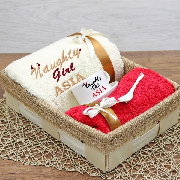 ręcznik z haftem imienia dla dziewczyny na prezent