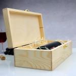 drewniana skrzynka na wino