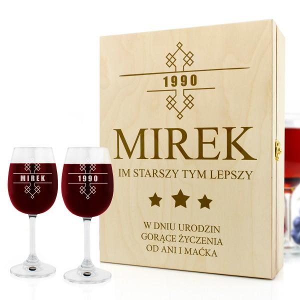 skrzynka na kieliszki i wino