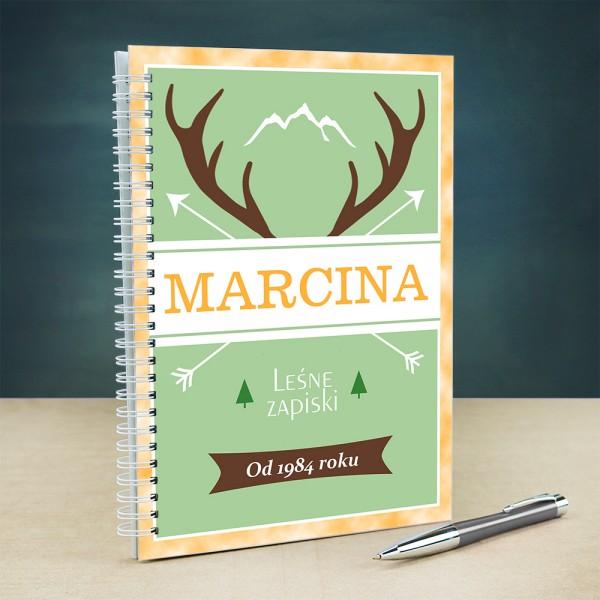 personalizowany notatnik dla myśliwego