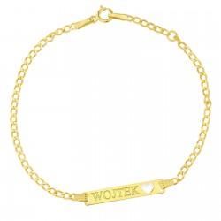złota bransoletka dla dziecka