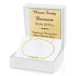grawerowana bransoletka na prezent złota bransoletka pr. 585