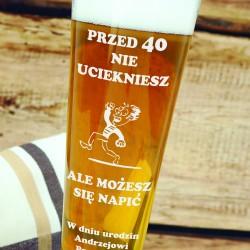 kufel do piwa z grawerem na prezent z okazji 40 urodzin