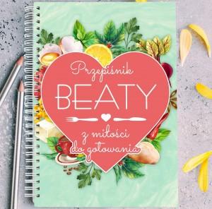 personalizowany notatnik przepiśnik kulinarny na prezent dla żony