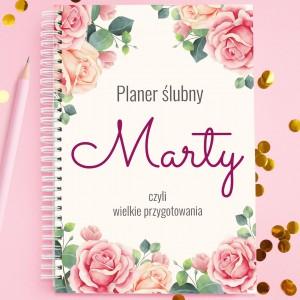 notes z nadrukiem planer ślubny na wyjątkowy prezent