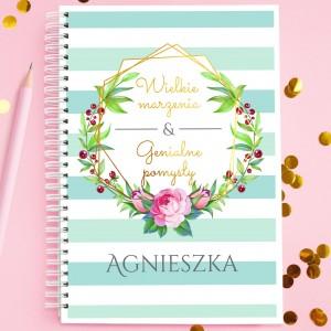 notatnik z własnym nadrukiem na romantyczny prezent marzenia & pomysły