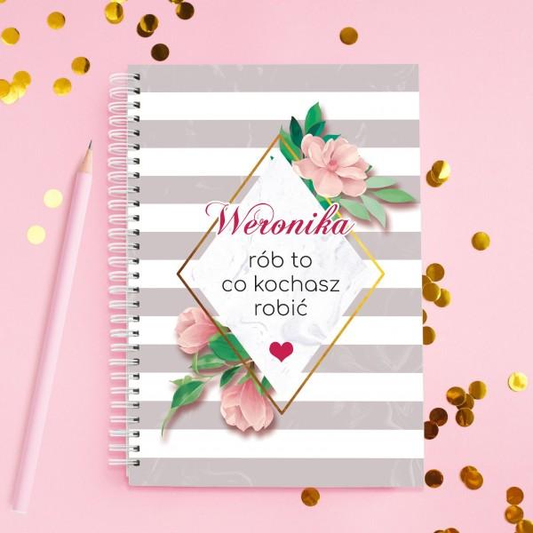 notatnik z nadrukiem na pomysł na prezent dla siostry