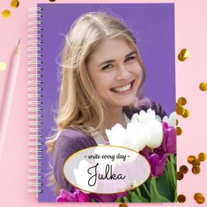 notes ze zdjęciem na prezent dla siostry write every day