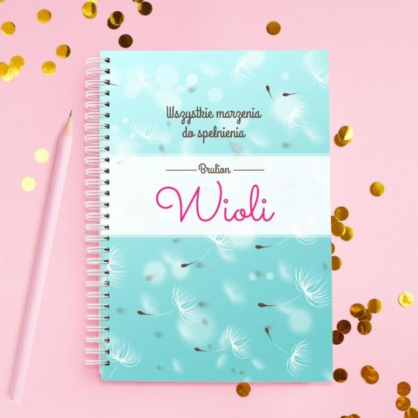 notatnik personalizowany na prezent dla siostry marzenia do spełnienia
