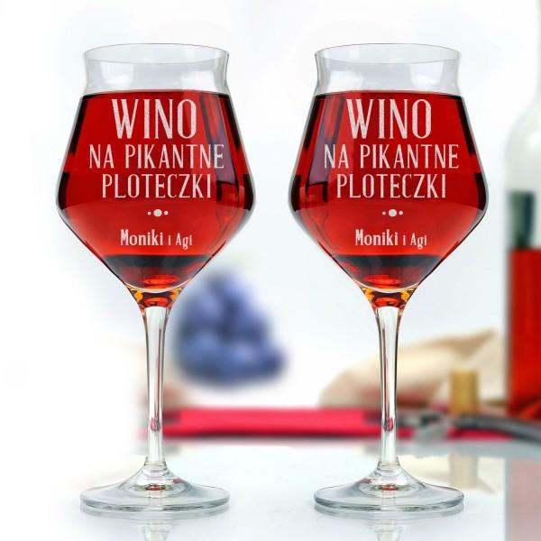 kieliszki do wina z grawerem na prezent