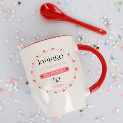 kubek z personalizacją na 50 urodziny