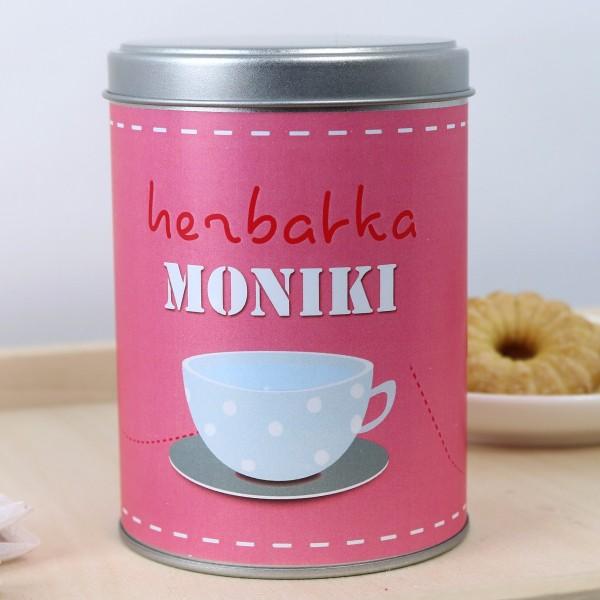 Puszka na herbatę z personalizacją