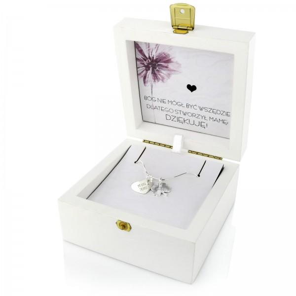 prezent dla mamy na urodziny damska biżuteria z grawerem
