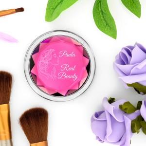 różowe lusterko z grawerem dedykacji na prezent