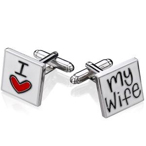 spinki do mankietów z grawerem - prezent dla męża