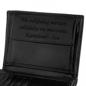 portfel skórzany z personalizacją na święta
