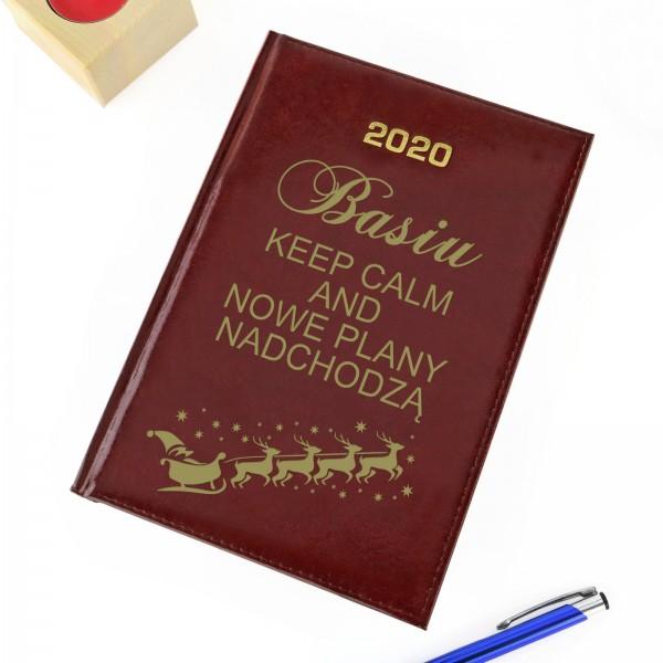 kalendarz z dedykacją na prezent na mikołajki