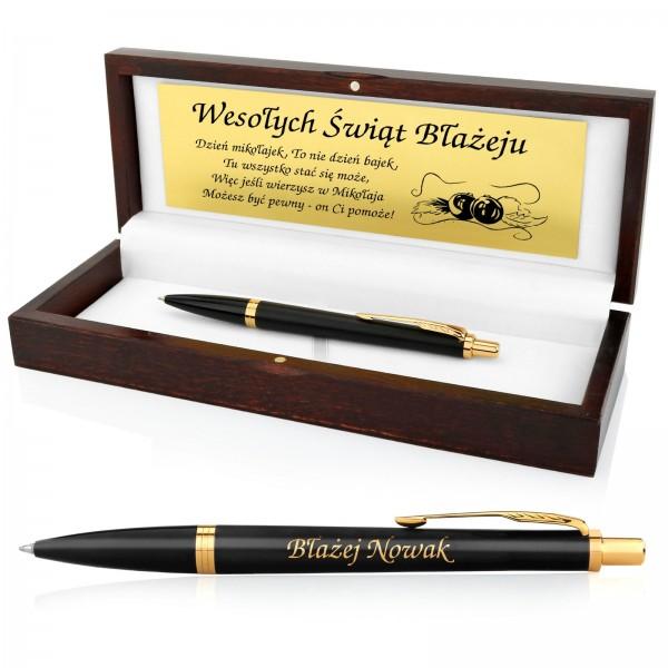 długopis z grawerem w etui na prezent