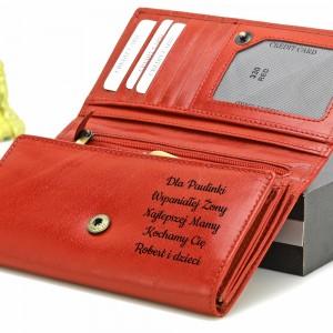 personalizowany portfel z grawerem dla niej na prezent
