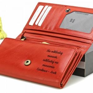 portfel z grawerem dla niej na prezent na mikołajki