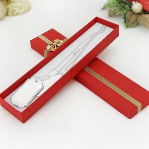 mikołajkowy prezent - nieśmiertelnik srebrny + personalizacja