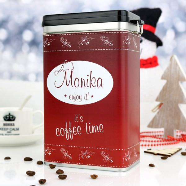 personalizowana puszka mikołajkowa na kawę