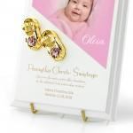 złote buciki jako prezent na chrzest dla dziewczynki