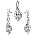 srebrny komplet biżuterii